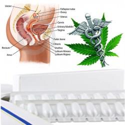 Cibdoca CBD vaginální čípky 500 mg (98% cannabidiol) -...