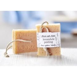 Levandule peeling - přírodní mýdlo Koukol