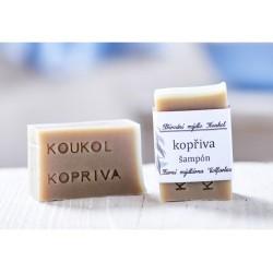 Kopřivový tuhý šampon - přírodní mýdlo Koukol